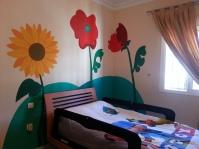 Amapolas y girasol, mural