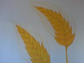 Espigas de trigo, detalle mural