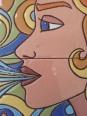La novia del viento, detalle. Cuerda seca.
