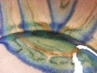 Detalle esmalte y craquelado en gres.
