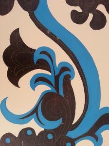 Restauración. Azul.